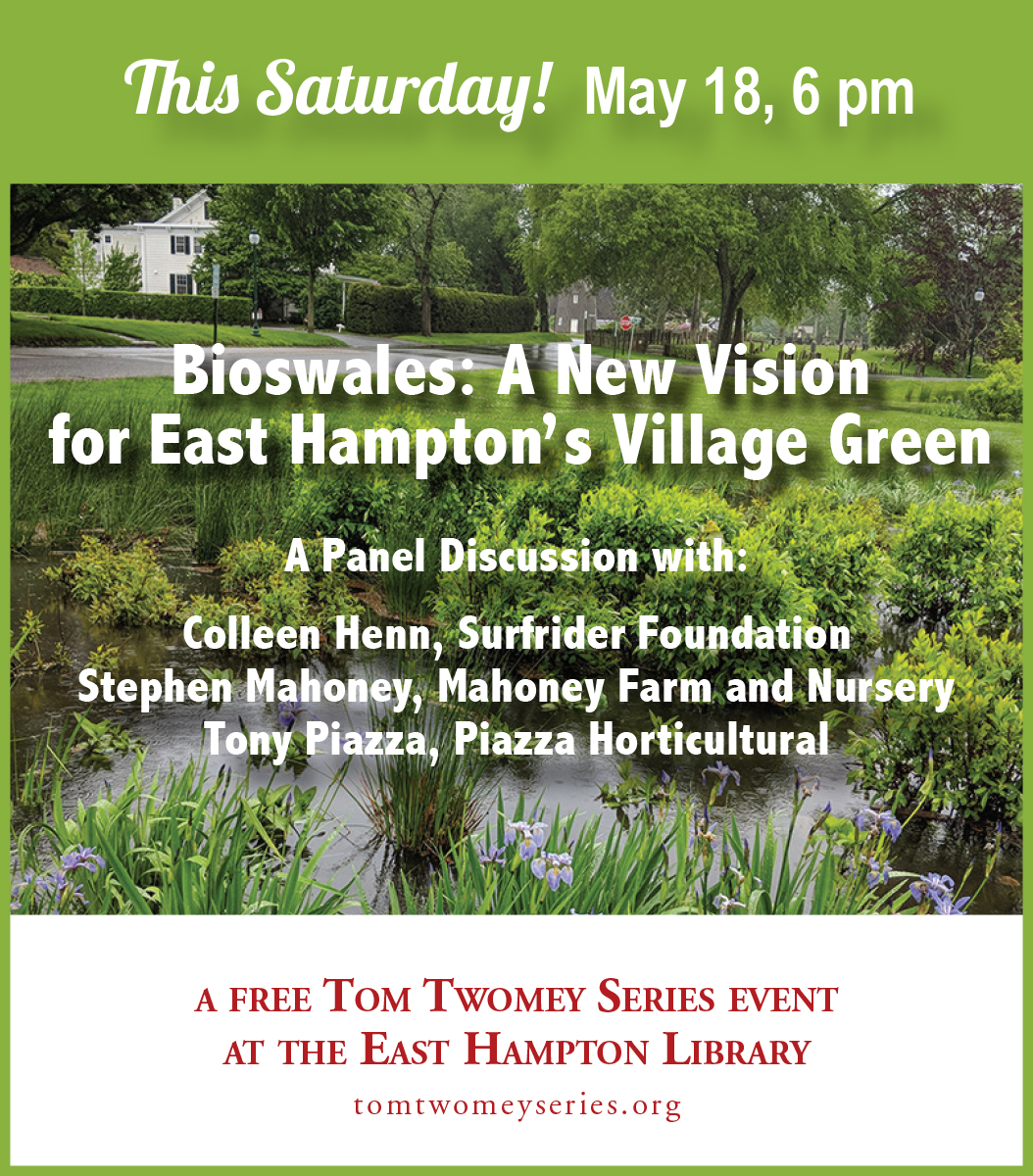 Panel discussion on Bioswales at East Hampton Library